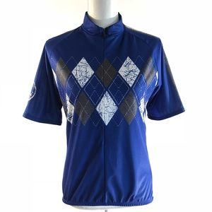 Sugoi Cycling Jersey Women's M blue Argyle